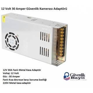 12V 30 Amper Güvenlik Kamerası Adaptörü Fanlı Model