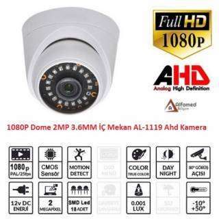 2 MP 18 Nano LED İç Mekan 1080P AHD Dome Kamera