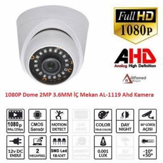 2 MP 18 Nano LED İç Mekan 1080P AHD Dome Kamera