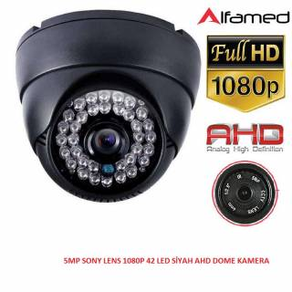 2MP 1080P 42 LED AHD SİYAH DOME KAMERA ALFA-1759