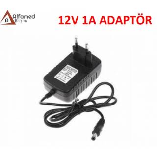 12V 1 AMPER PLASTİK SWİTCH ADAPTÖR