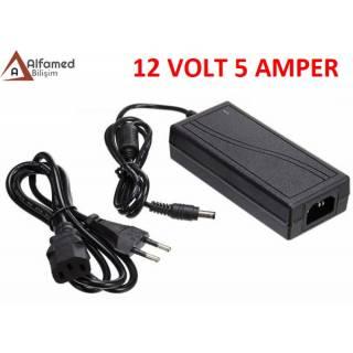 12V 5 AMPER PLASTİK SWITCH ADAPTÖR Güvenlik kamerası adaptörü