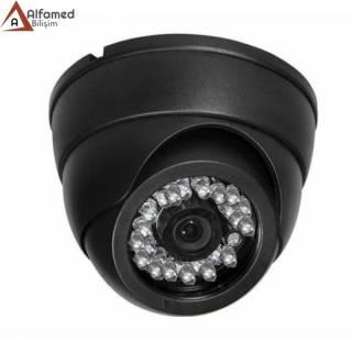 700 TV Line 24 LED Gece Görüşlü Siyah Analog Dome Kamera