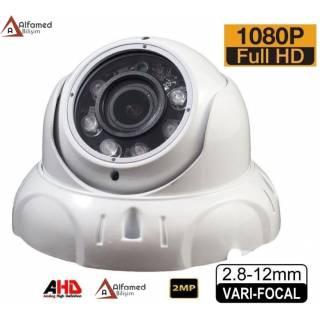 2MP Varifocal 1080P 6 Atom LED AHD Dome Güvenlik Kamerası