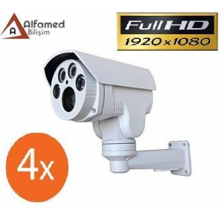 2 MP MOTORIZE PTZ 4 LED AHD GÜVENLİK KAMERASI