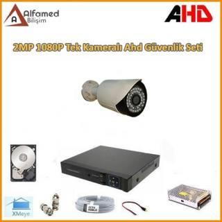 2MP 1080P 1 Kameralı AHD Güvenlik Sistemi Harddisk Dahil
