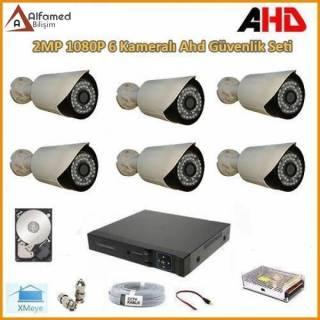 2MP 1080P 6 Kameralı AHD Güvenlik Sistemi (Harddisk Dahil)
