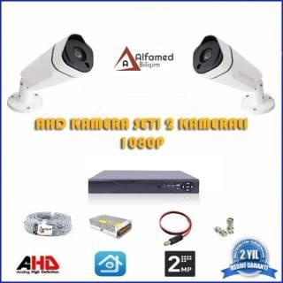 2MP 2 Kameralı AHD Güvenlik Sistemi 1080P