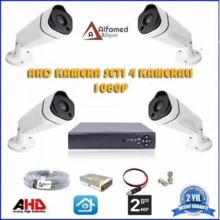 2MP 4 Kameralı AHD Güvenlik Sistemi