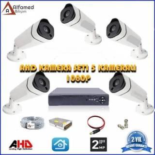 2MP 5 Kameralı AHD Güvenlik Sistemi
