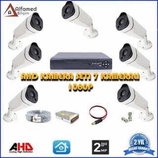2MP 7 Kameralı AHD Güvenlik Sistemi 1080P Su Geçirmez Gece Görüşlü