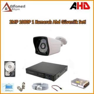 2MP 1080P 1 Kameralı AHD Güvenlik Sistemi (320GB Harddisk Dahil)