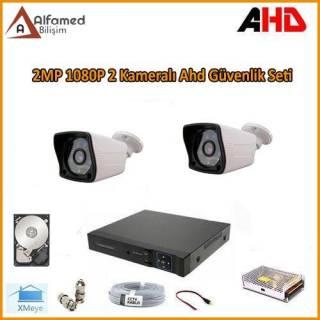 2MP 1080P 2 Kameralı AHD Güvenlik Sistemi (320GB Harddisk Dahil)