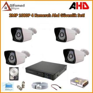 2MP 1080P 4 Kameralı AHD Güvenlik Sistemi 320GB Harddisk Dahil