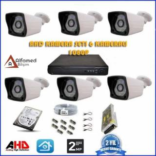 2MP 1080P 6 Kameralı AHD Güvenlik Sistemi (500GB Harddisk Dahil)