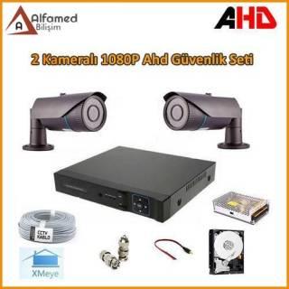 2MP 1080P 2 Kameralı AHD Güvenlik Sistemi (Harddisk Dahil)