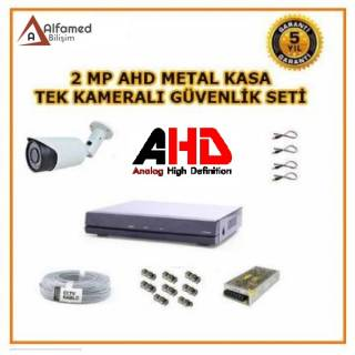 Tek Kameralı 1080P 2MP AHD Güvenlik Sistemi Full Hd