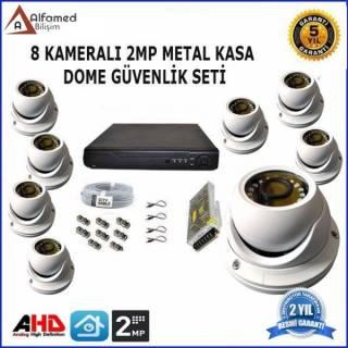 2MP 8 DOME Kameralı AHD GÜVENLİK KAMERA SİSTEMİ