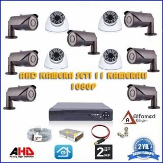 2MP 1080P 7 Dış 4 İç Kameralı AHD Güvenlik Sistemi