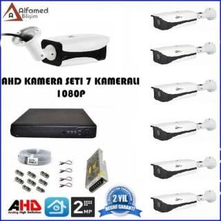 2MP 7 Kameralı Metal Kasa AHD Güvenlik Sistemi