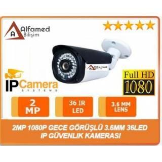 2MP 1080P 3.6MM Gece Görüşlü 36 LED Ip Güvenlik Kamerası