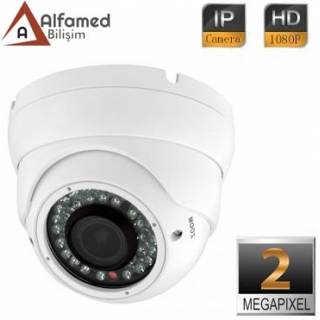 2MP 1080P IR 2.8 - 12mm Varifocal Lens IP DOME Güvenlik Kamerası