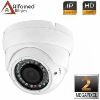 2MP 1080P IR 2.8 - 12mm Varifocal Lens IP DOME Güvenlik Kamerası
