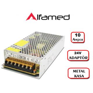 24V 10 Amper Adaptörü Metal Kasa Trafo Swich Adaptör