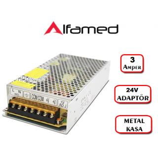 24V 3 Amper Adaptörü Metal kasa Trafo Adaptör