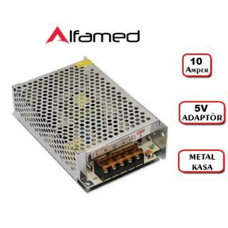 5V 10 Amper Adaptörü Metal Kasa Trafo Adaptör