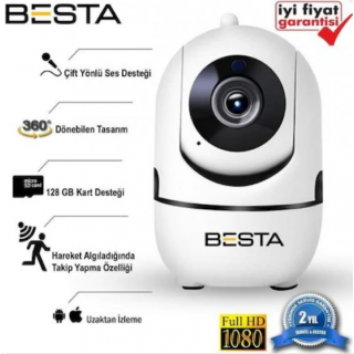 BESTA Kablosuz Kamera 1080P Harekete Duyarlı 360 Derece 2MP BB-1614