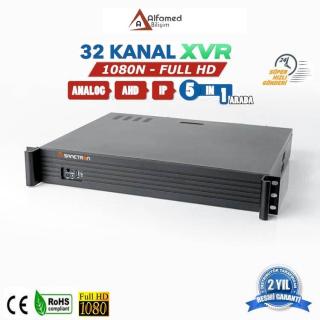 32 Kanal AHD XVR Güvenlik Kamerası Kayıt Cihazı 8 Harddiskli
