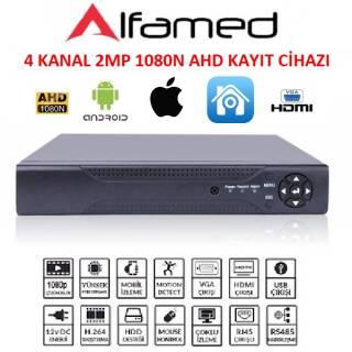 4 Kanal 1080N AHD DVR Kayıt Cihazı 2Mp Full Hd Xmeye