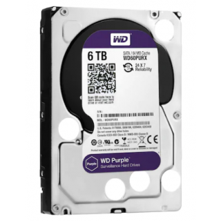 """WD Purple WD60PURZ 6 TB 3.5"""" 5400 RPM HDD Güvenlik Diski"""
