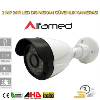 2MP AHD IR CAM 3.6MM 24 LED Bullet Güvenlik Kamerası AL-9520