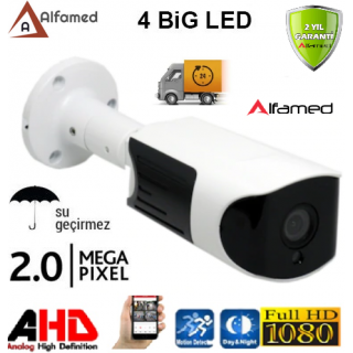 2MP 4 ATOM LED GÜVENLİK KAMERASI ALFAMED AL-1145