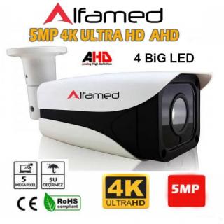 4 ATOM LED 5MP AHD 4K Ultra HD Gece Görüşlü Dış Mekan Güvenlik Kamerası
