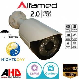 1080P 2MP AHD 6 Atom LED Bullet Güvenlik Kamerası ALFA-2097