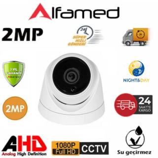 2MP 1080P 6 ATOM LED AHD Dome Güvenlik Kamerası