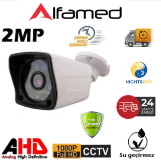 Alfamed 6 Atom Led AHD 2MP FULL HD Güvenlik Kamerası AL-9138