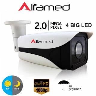 1080P 2MP Metal Kasa IP Güvenlik Kamerası Gece Görüşlü Su Geçirmez