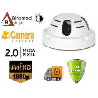 Duman Dedektörü Görünümlü Ahd 1080P 2MP Dome Kamera Alfa-1921