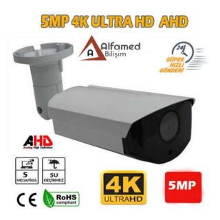 5MP AHD 4K Ultrahd Gece Görüşlü Dış Mekan Güvenlik Kamerası