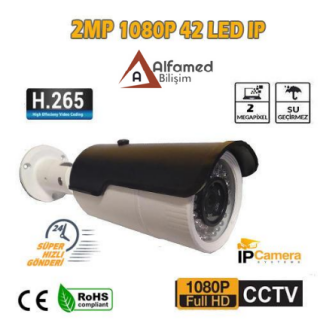 ALFAMED 2 MP 1080P 42 LED 3.6 MM DIŞ MEKAN IP GÜVENLİK KAMERASI AL-5060
