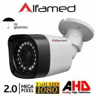 2 MP 1080P Plastik Kasa AHD Güvenlik Kamerası ALFAMED AL-1546