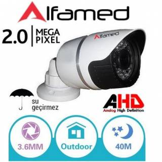 ALFAMED 2MP 1080P AHD Metal Kasa 24 Led Bullet Kamera ALFA-1854