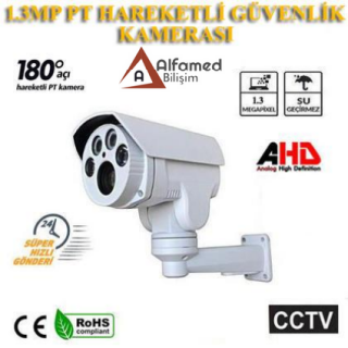 ALFAMED 1,3 MP AHD Motorize PT 4 Atom Led Güvenlik Kamerası
