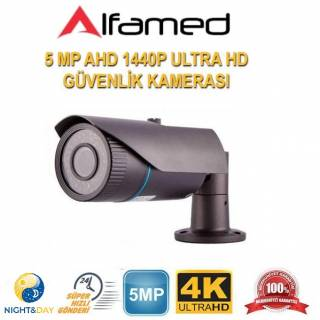 ALFAMED 5MP AHD IR CAM 3.6MM 42LED AHD Güvenlik Kamerası ALFA-1135