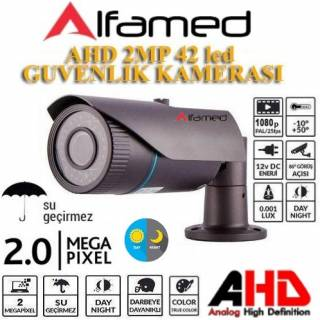 ALFAMED 2MP 1080P AHD 42 Led Gece Görüşlü Güvenlik Kamerası ALFA-1678