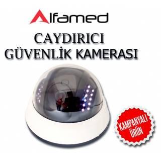 LED IŞIKLI CAYDIRICI SAHTE DOME GÜVENLİK KAMERASI ALFA-1903